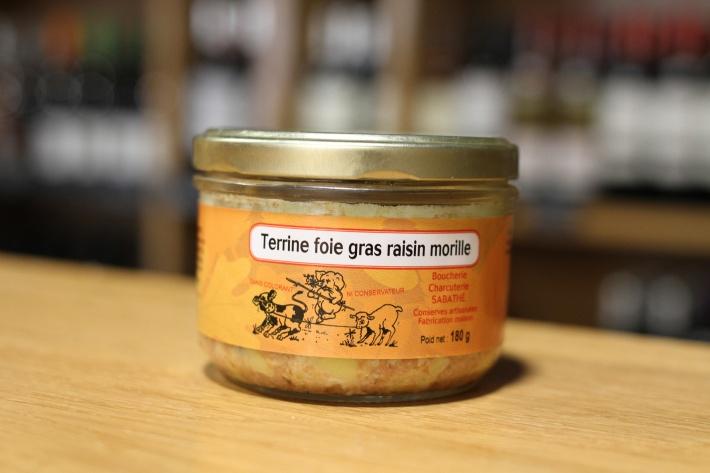 Pâté au foie gras, raisins et morilles